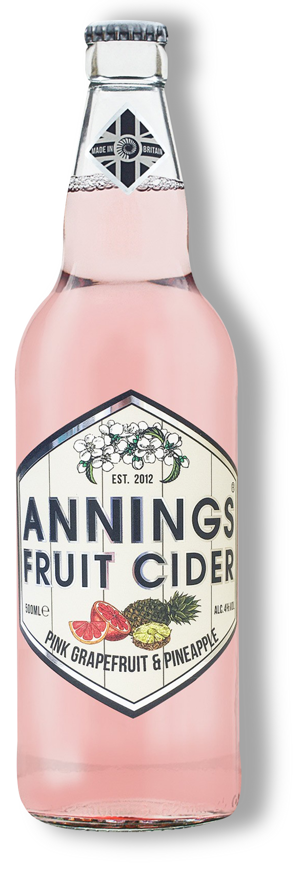 Annings Pink Grapefruit and pineapple Cider