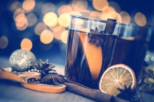 A festive close up of mulled cider